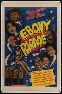 6s074 EBONY PARADE linen 1sh '47 Dorothy Dandridge, Cab Calloway & others in Soundies compilation!