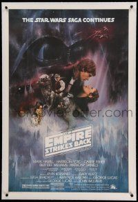 6s075 EMPIRE STRIKES BACK linen 1sh '80 classic Gone With The Wind style art by Roger Kastel