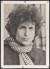 6t069 BOB DYLAN linen 29x41 commercial poster '60s great portrait from his Blonde on Blonde album!