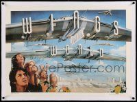 6t124 PAUL MCCARTNEY & WINGS linen 23x32 commercial poster '79 Castle art, Wings Over the World tour