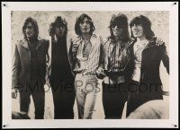 6t125 ROLLING STONES linen 28x40 commercial poster '72 great portrait of the legendary rock band!