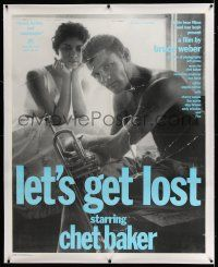 6t143 LET'S GET LOST linen Italian 40x50 '88 Bruce Weber, great image of Chet Baker with trumpet!