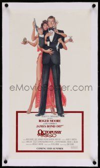 6t054 OCTOPUSSY linen 12x22 special '83 art of sexy Maud Adams & Moore as Bond by Goozee!