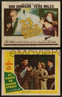 6z027 23 PACES TO BAKER STREET 8 LCs '56 images of Van Johnson, pretty Vera Miles!