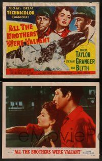 6z036 ALL THE BROTHERS WERE VALIANT 8 LCs '53 Robert Taylor, Stewart Granger, whaling!