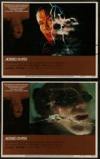 6z038 ALTERED STATES 8 LCs '80 William Hurt, Paddy Chayefsky, Ken Russell, sci-fi horror!
