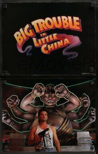 6z019 BIG TROUBLE IN LITTLE CHINA 9 LCs '86 Kurt Russel, Kim Cattrall, directed by John Carpenter!