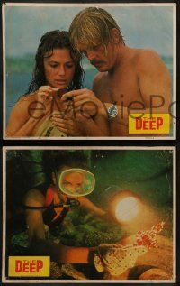 6z006 DEEP 12 LCs '77 Jacqueline Bisset & Nick Nolte with find treasure in the ocean, Peter Yates!