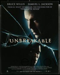 6z018 UNBREAKABLE 10 LCs '00 M. Night Shyamalan directed, Bruce Willis, Samuel L. Jackson!