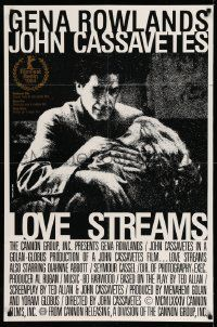 7b029 LOVE STREAMS Canadian 1sh '84 great image of star/director John Cassavetes & Gena Rowlands!