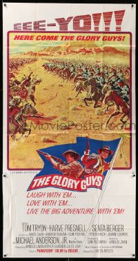 7f289 GLORY GUYS 3sh '65 directed by Sam Peckinpah, epic Civil War battle art by Frank McCarthy!