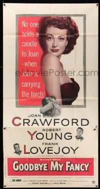 7f296 GOODBYE MY FANCY 3sh '51 no one holds a candle to Joan Crawford & Robert Young!