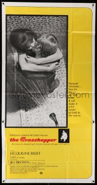 7f298 GRASSHOPPER int'l 3sh '70 romantic image of Jacqueline Bisset making love in the shower!