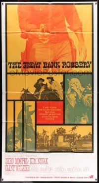 7f301 GREAT BANK ROBBERY int'l 3sh '69 Zero Mostel, Kim Novak, cool western photo montage!