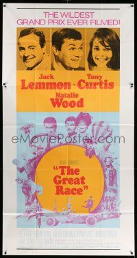 7f302 GREAT RACE int'l 3sh R70 Blake Edwards, Tony Curtis, Jack Lemmon, Natalie Wood, cool montage!