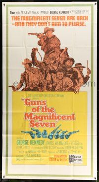 7f307 GUNS OF THE MAGNIFICENT SEVEN 3sh '69 they're back and they don't aim to please!