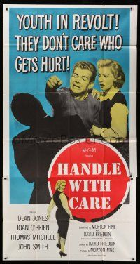 7f311 HANDLE WITH CARE 3sh '58 Dean Jones, youth in revolt, they don't care who gets hurt!
