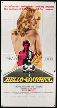 7f318 HELLO-GOODBYE int'l 3sh '70 Michael Crawford has been peeping at sexy Genevieve Gilles!