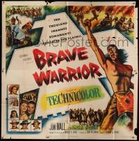 7f014 BRAVE WARRIOR 6sh '52 the prophet sounds the war cry and ten thousand braves rise in fury!