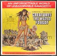 7f018 CREATURES THE WORLD FORGOT int'l 6sh '71 huge artwork of sexy prehistoric babe Julie Ege!