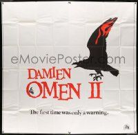 7f020 DAMIEN OMEN II 6sh '78 cool art of demonic crow, the first time was only a warning, rare!