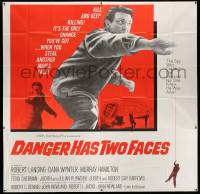 7f021 DANGER HAS TWO FACES 6sh '67 Robert Lansing couldn't die because he stole a dead man's face!