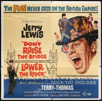 7f026 DON'T RAISE THE BRIDGE, LOWER THE RIVER 6sh '68 wacky art of Jerry Lewis in London!