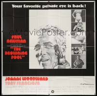 7f028 DROWNING POOL int'l 6sh '75 cool image of Paul Newman as your favorite private eye Lew Harper!