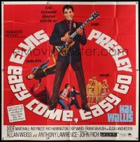 7f029 EASY COME, EASY GO 6sh '67 different image scuba diver Elvis Presley playing guitar, rare!