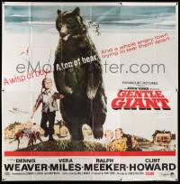 7f038 GENTLE GIANT 6sh '67 Dennis Weaver, great full-length art of boy with big grizzly bear!