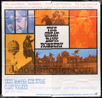7f040 GREAT BANK ROBBERY int'l 6sh '69 cool montage of Zero Mostel, Kim Novak & top cast!