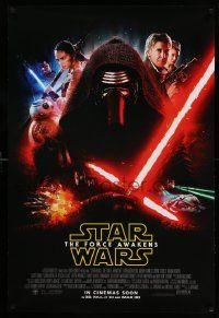 7g663 FORCE AWAKENS advance DS int'l 1sh '15 Star Wars: Episode VII, different montage, Kylo Ren!