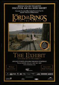7g009 LORD OF THE RINGS: THE TWO TOWERS THE EXHIBIT 27x40 Canadian museum/art exhibition '02 cool!