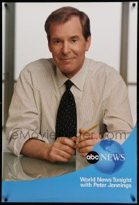 7g039 ABC NEWS tv poster '02 great image of news anchor Peter Jennings!