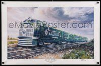 7g019 ILLINOIS CENTRAL GREEN DIAMOND signed 22x34 art print '04 by artist D. Gunderson, 299/500!