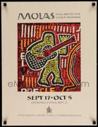 7g010 MOLAS 18x23 museum/art exhibition '80s colorful folk art of the Cuna Indians!