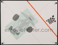 7g024 RAYMOND LOEWY signed 22x28 art print '85 by the artist and hand-numbered 228/300, race car!
