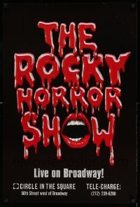 7g002 ROCKY HORROR SHOW 24x36 stage poster '00 cool title design with mouth!