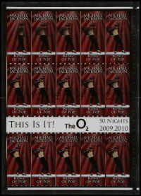 7g004 THIS IS IT lenticular 20x28 English uncut ticket sheet '09 dark red!