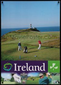 7g033 IRELAND 24x33 travel poster '80s great images of people playing golf!