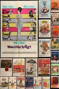 7h018 LOT OF 34 FOLDED ONE-SHEETS '50-70s great images from a variety of different movies!