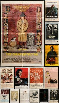 7h023 LOT OF 15 FOLDED ONE-SHEETS '70s-80s great images from a variety of different movies!