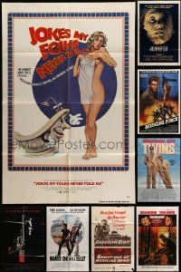 7h025 LOT OF 13 FOLDED ONE-SHEETS '50-80s great images from a variety of different movies!