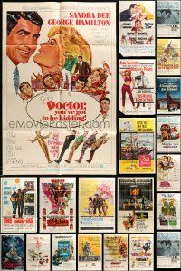 7h013 LOT OF 40 FOLDED ONE-SHEETS '60s-70s great images from a variety of different movies!