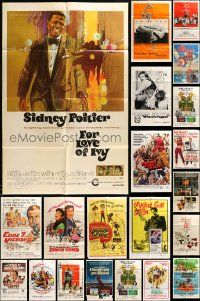 7h017 LOT OF 36 FOLDED ONE-SHEETS '60s-80s great images from a variety of different movies!