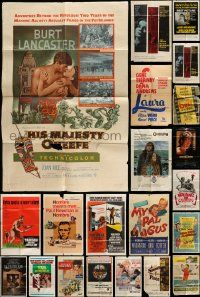 7h019 LOT OF 31 FOLDED ONE-SHEETS '50s-80s great images from a variety of different movies!