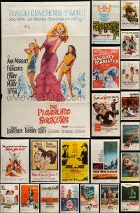 7h012 LOT OF 43 FOLDED ONE-SHEETS '50-70s great images from a variety of different movies!