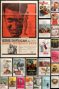 7h015 LOT OF 38 FOLDED ONE-SHEETS '60s-70s great images from a variety of different movies!