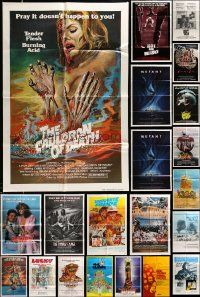 7h002 LOT OF 63 FOLDED ONE-SHEETS '70s-80s great images from a variety of different movies!