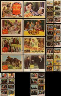 7h040 LOT OF 54 1940S-50S LOBBY CARDS '40s-50s incomplete sets from a variety of different movies!
